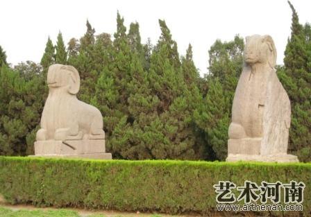 北宋皇陵石刻  石羊.jpg