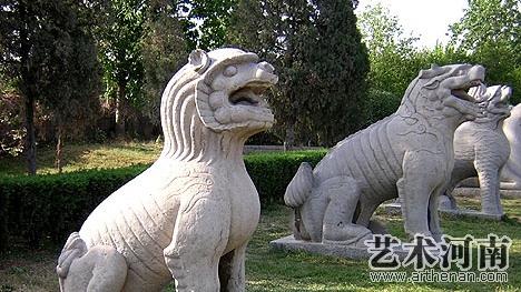 潞简王墓石刻  石狮