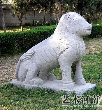 潞简王墓石刻   獬豸