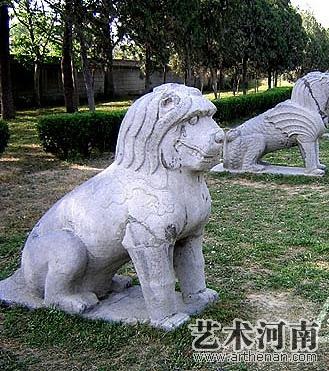 潞简王墓石刻   猰貐