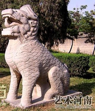 潞简王墓石刻  麒麟